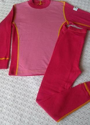 Термобілизна з мериносової шерсті комплект реглан термо штани термобелье леггинсы