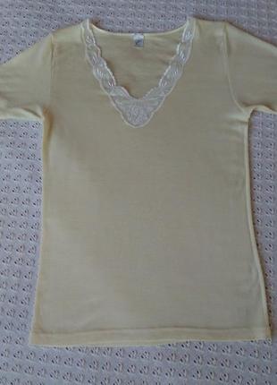 Термофутболка из мериносовой шерсти и шелка термобелье футболка термо поддева термобілизна