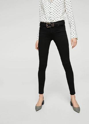 Базовые черные джинсы от mango, 38р, испания, оригинал