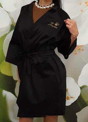Халат-кимоно для бьюти мастеров.