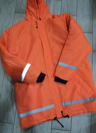 Сигнальная оранжевая куртка - спецовка xl/ 50-52 размер