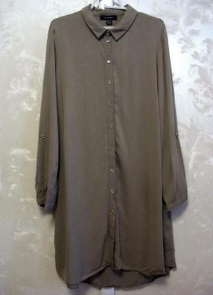 Вискозное платье -рубашка atmosphere
