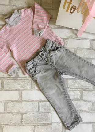 Комплект тёплый джинсы и гольфик