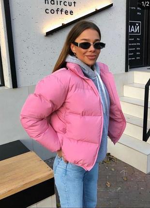 Модные и стильные куртки, матовая плотная плащевка эмми/канада, тёплые, разные расцветки!
