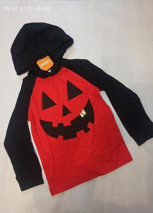 Реглан кофта капюшон хеловин halloween хеллоуин тыква хеловин