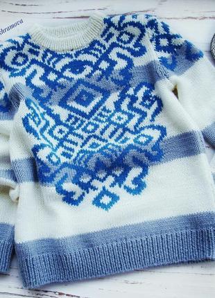 Теплый свитер свитер с рисунком