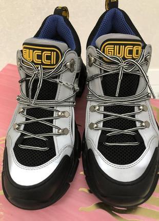 Оригинал мужские кроссовки gucci