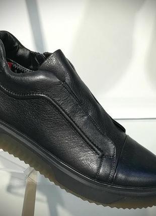 Мужские кожаные туфли демисезонные