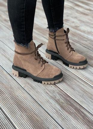 Женские ботинки из натуральной замши 108-02