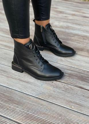 Кожаные ботинки на низком ходу 118-01