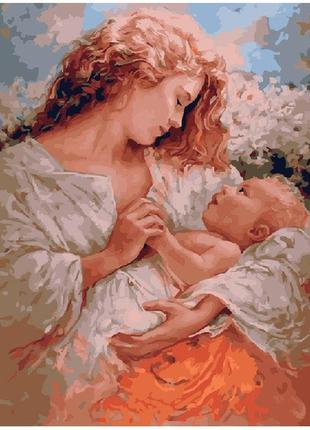 Картина по номерам мама и малыш