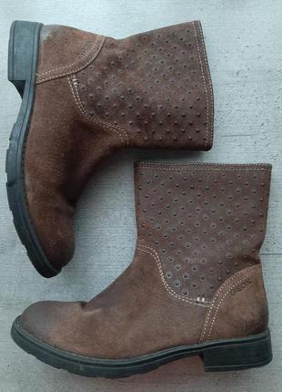 Италия оригинальные кожаные ботинки полусапоги от geox