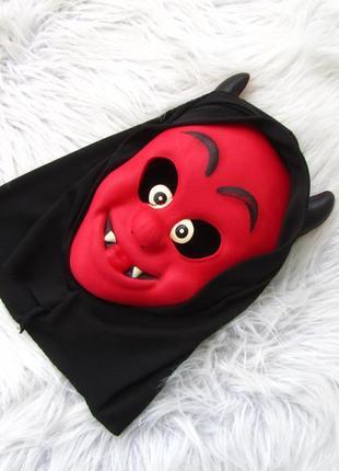 Карнавальная  шапка маска хэллоуин хеллоуин halloween tesco демон черт