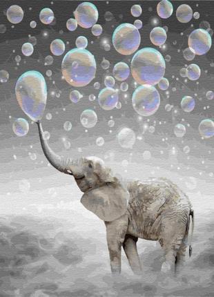 Картина по номерам слон в облаках