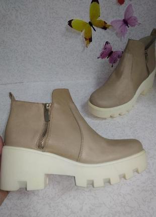 Кожаные ботинки kmb (ка эм би) 41р