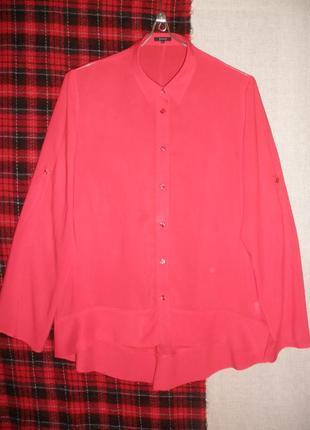 Яркая тончайшей вискозы блузка блуза рубашка jones асимметричный низ