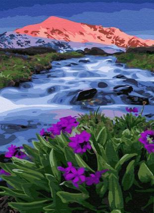 Картина по номерам весна у подножья гор