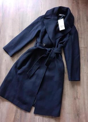 Темносиние пальто zara,колекция 2020