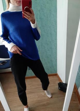 Вязаный шерстяной свитер оверсайз