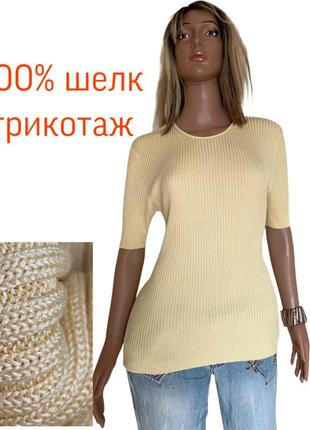 Италия шелковый джемпер шелк 100% трикотаж шелковая футболка brunetti