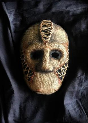 Продам маску из мешковины для хэллоуина