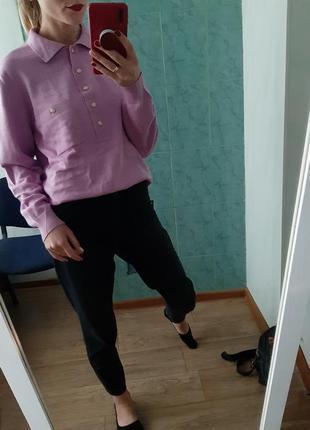 Винтажный шерстяной свитер поло оверсайз