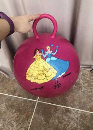 Фитнес мяч спортивный инвентарь розовый фитбол john disney