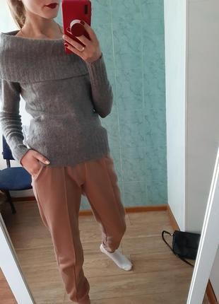 Шерстяной, ангоровый свитер от massimo dutti