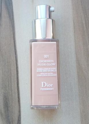Тональный крем усиливающий сияние кожи dior diorskin nude glow тестер