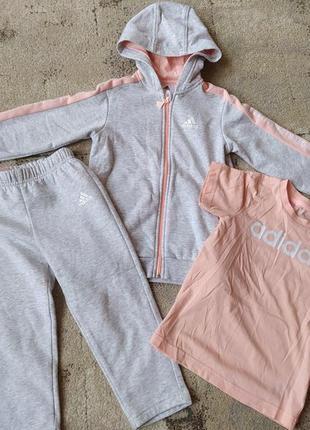 Теплый спортивный костюм adidas оригинал для девочки