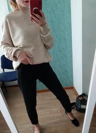 Объёмный шерстяной, кашемировый свитер,джемпер оверсайз