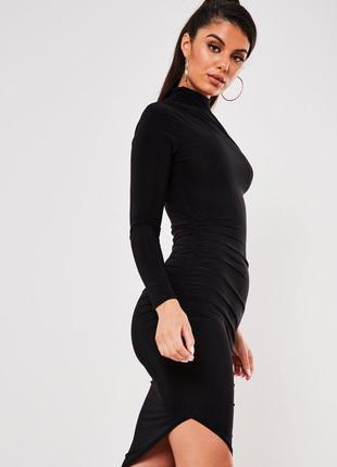 Платье миди с длинным рукавом missguided