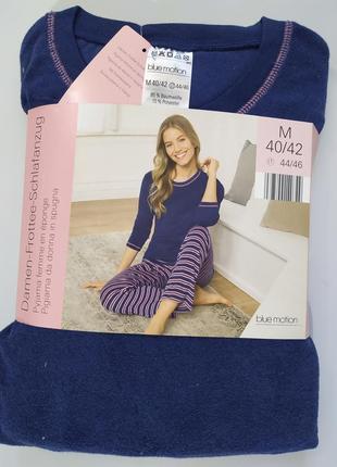 Костюм домашний махровый, пижама blue motion