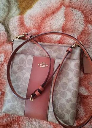 Coach бредовая сумка кросбоди ,номерная, оригинал.