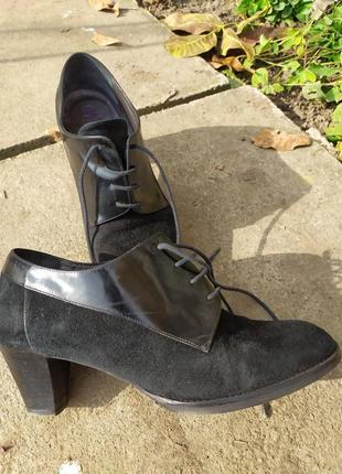 Туфлі шкіряні/замшеві