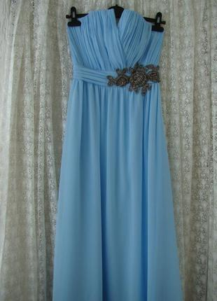 Платье вечернее выпускное в пол little mistress р.42-44 №7568