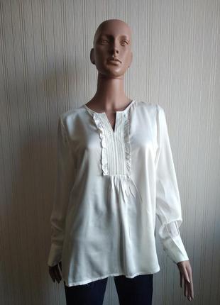 Белая блуза tom tailor размер л