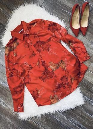 Очень красивая яркая блуза / шелковая блуза