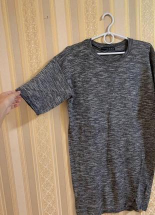 Туника кофта удлиненная длинная платье футболка