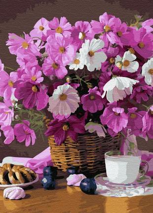 Картина по номерам цветочный уют