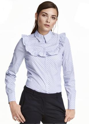 Блуза/рубашка  с рюшей, воланом от h&m