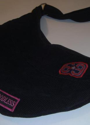 Сумка мешок из ткани, вельветовая