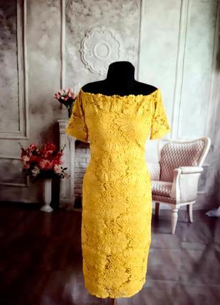 Мега стильное нарядное платье миди