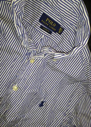 Polo ralph lauren рубашка приталенная размер l