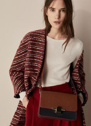 Твидовый пиджак massimo dutti 34 xs