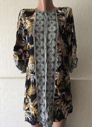 Платье туника с рукавами h&m