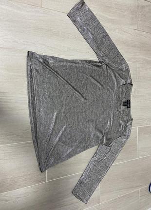 Блестящая блузка/ кофта/ топ