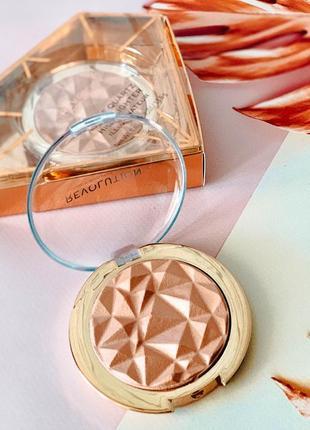 "Хайлайтер «makeup revolution"" розовый кварц💥 из линейки «precious stone highlighter"""