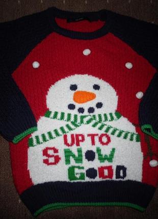 Новогодний свитер george 2-3 года