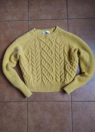 Укороченный свитер оверсайз hollister размер l